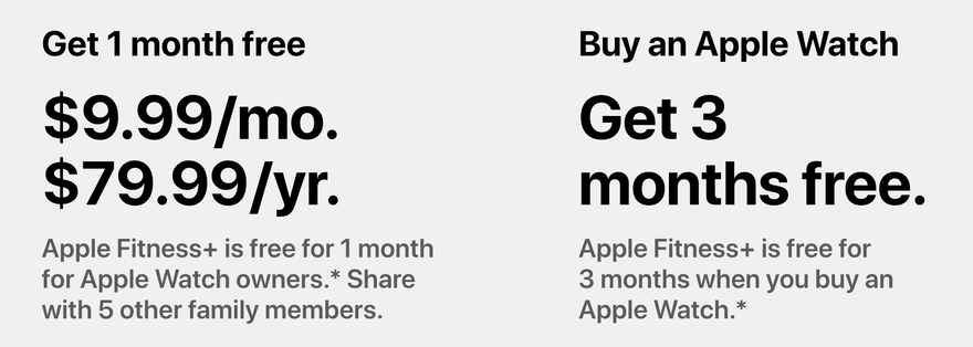 Apple fitness plus pricing