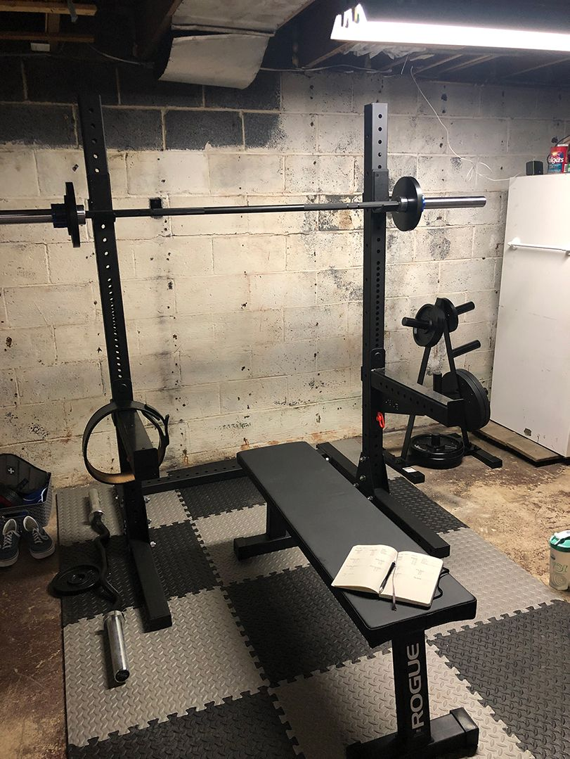 My Basement Home Gym - Before